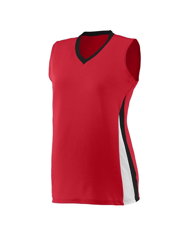1356 Augusta Sportswear Red/ Black/ White