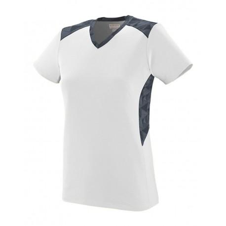 1360 Augusta Sportswear 1360 Women's Vigorous Jersey White/ Graphite/ Black Print