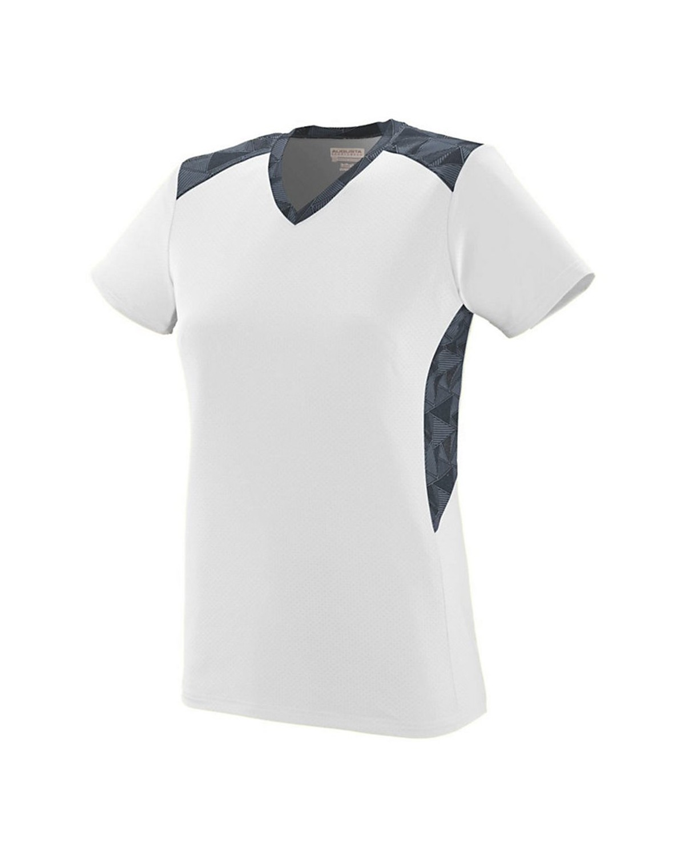 1360 Augusta Sportswear White/ Graphite/ Black Print