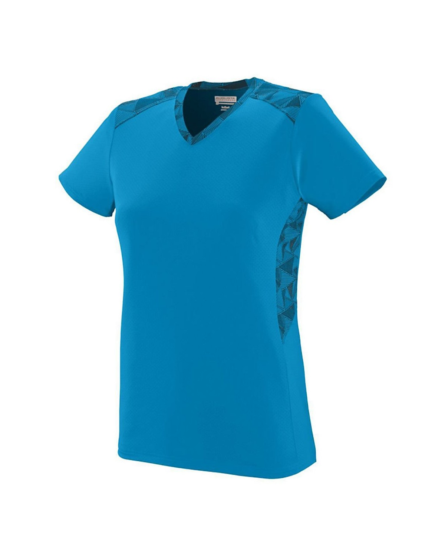 1360 Augusta Sportswear Power Blue/ Power Blue/ Black Print