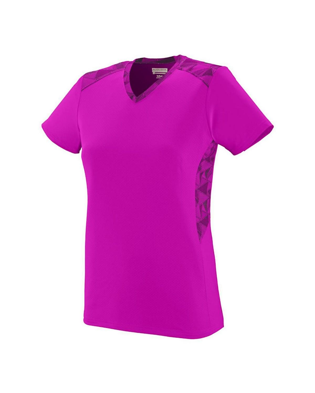 1360 Augusta Sportswear Power Pink/ Power Pink/ Black Print
