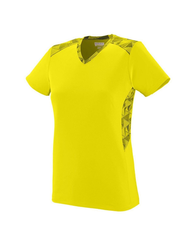 1360 Augusta Sportswear Power Yellow/ Power Yellow/ Black Print