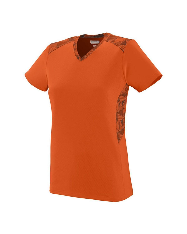 1360 Augusta Sportswear Orange/ Orange/ Black Print