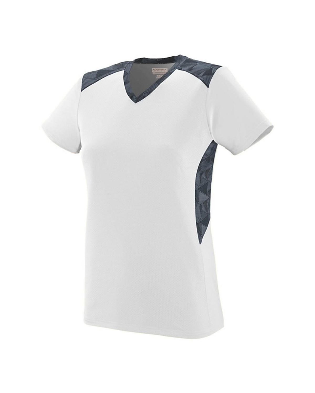 1361 Augusta Sportswear White/ Graphite/ Black Print