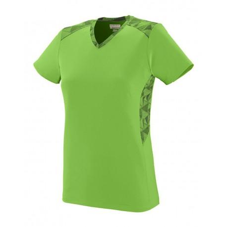 1361 Augusta Sportswear 1361 Girls' Vigorous Jersey Lime/ Lime/ Black Print