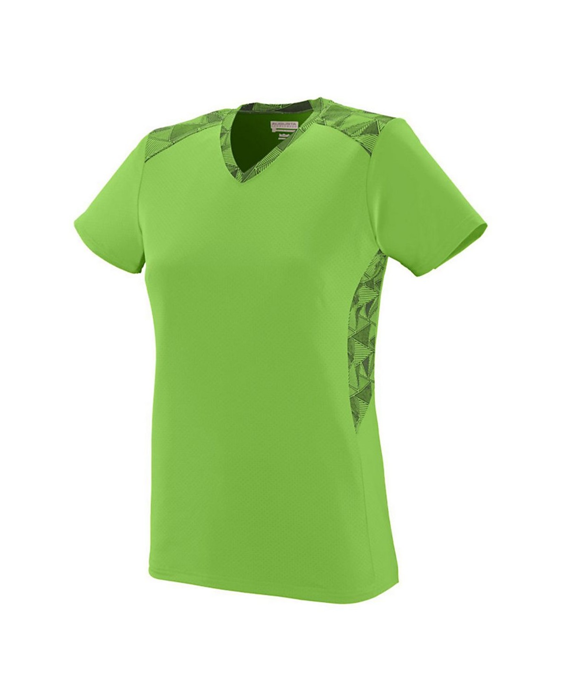 1361 Augusta Sportswear Lime/ Lime/ Black Print