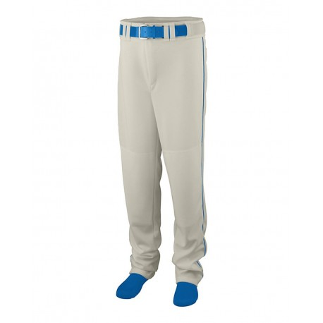 1445 Augusta Sportswear 1445 Series Baseball/Softball Pants with Piping Silver Grey/ Royal