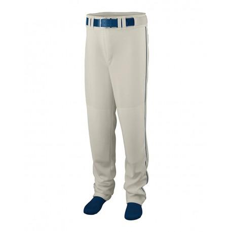 1446 Augusta Sportswear 1446 Youth Series Baseball/Softball Pants with Piping Silver Grey/ Navy