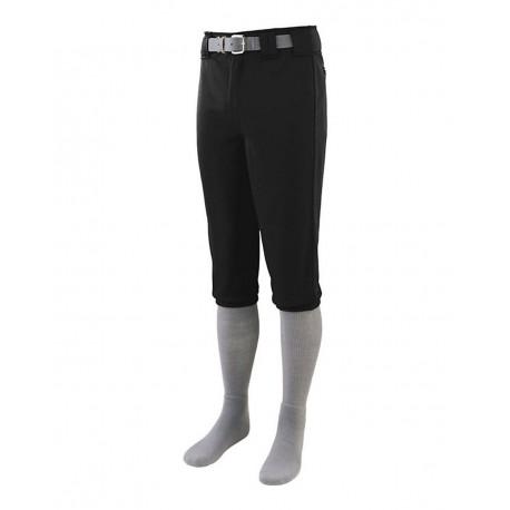 1452 Augusta Sportswear 1452 Series Knee Length Baseball Pants BLACK