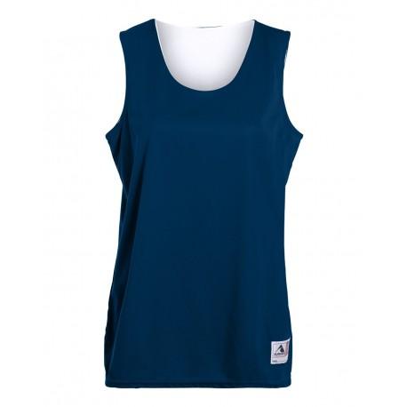 147 Augusta Sportswear 147 Women's Reversible Wicking Tank NAVY/ WHITE
