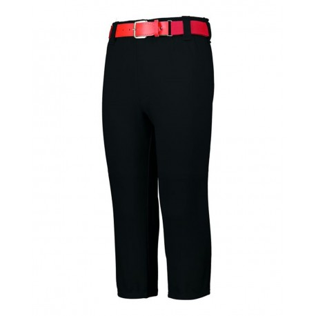 1485 Augusta Sportswear 1485 Pull-Up Baseball Pants With Loops BLACK
