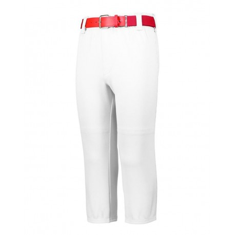 1486 Augusta Sportswear 1486 Youth Pull-Up Baseball Pants With Loops WHITE
