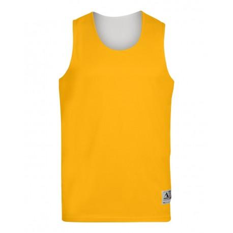 149 Augusta Sportswear 149 Youth Reversible Wicking Tank GOLD/ WHITE