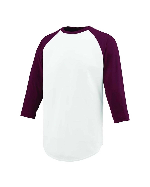 1505 Augusta Sportswear WHITE/ MAROON