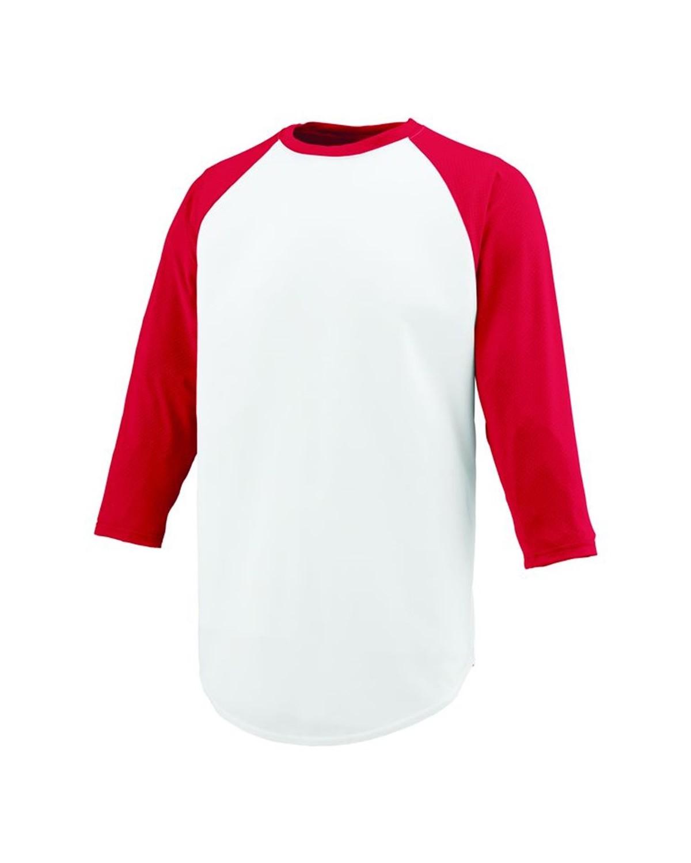 1505 Augusta Sportswear WHITE/ RED
