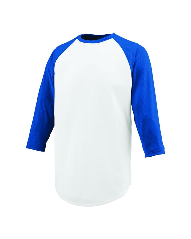 1505 Augusta Sportswear WHITE/ ROYAL