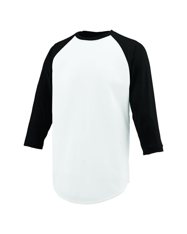 1505 Augusta Sportswear WHITE/ BLACK