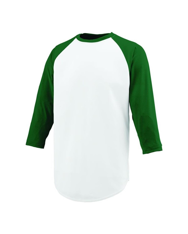 1505 Augusta Sportswear White/ Dark Green