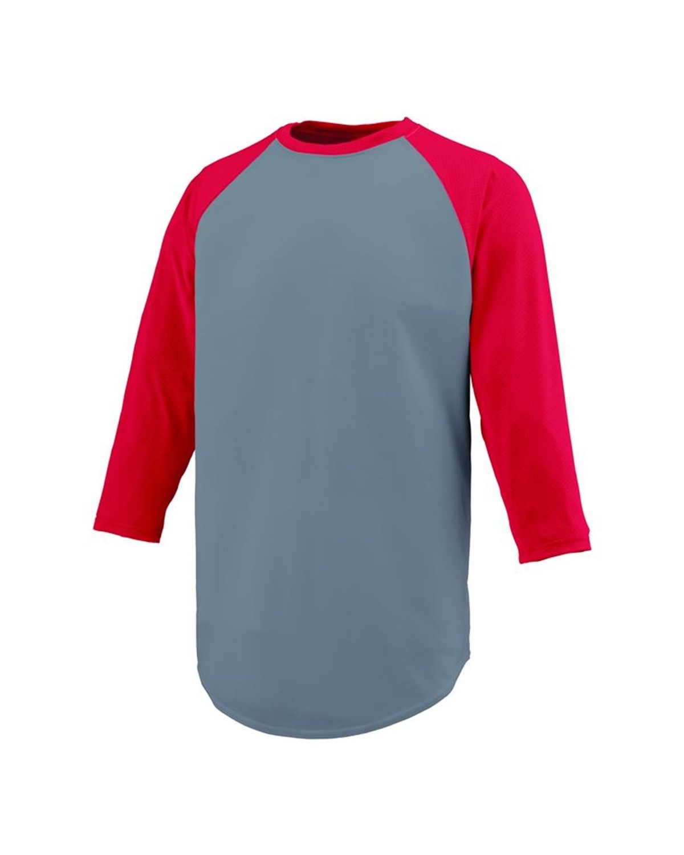1505 Augusta Sportswear Graphite/ Red