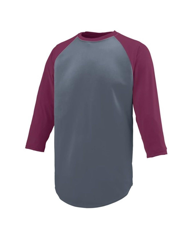 1506 Augusta Sportswear Graphite/ Maroon