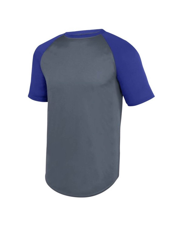 1508 Augusta Sportswear Graphite/ Purple
