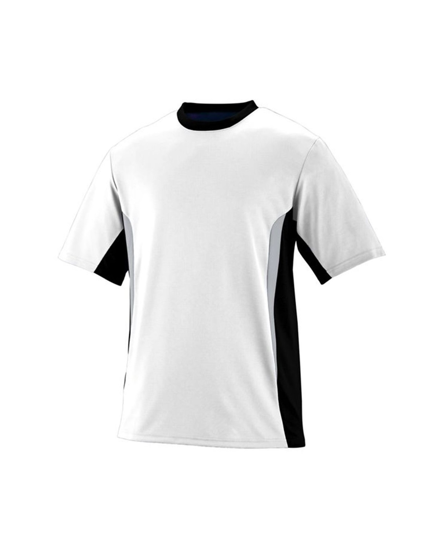 1510 Augusta Sportswear White/ Black/ Silver Grey