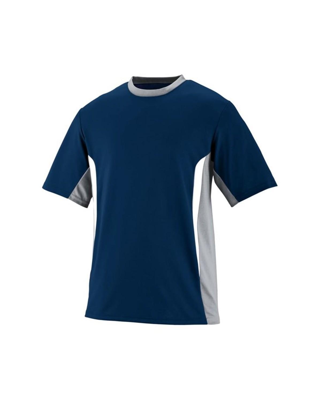 1510 Augusta Sportswear Navy/ Silver Grey/ White