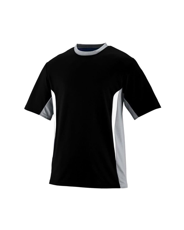 1510 Augusta Sportswear Black/ Silver Grey/ White
