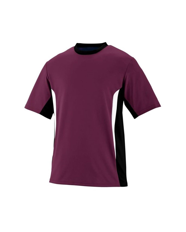 1511 Augusta Sportswear Maroon/ Black/ White