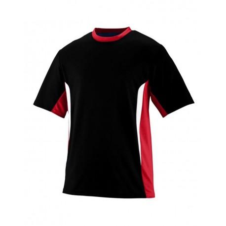 1511 Augusta Sportswear 1511 Youth Surge Jersey Black/ Red/ White