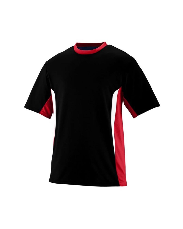 1511 Augusta Sportswear Black/ Red/ White