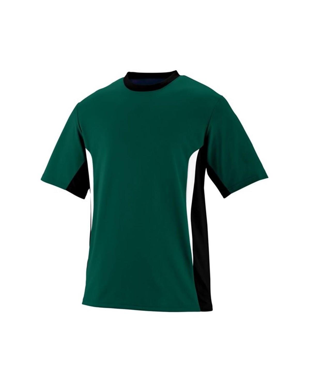 1511 Augusta Sportswear Dark Green/ Black/ White