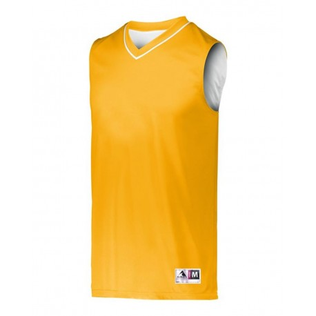 152 Augusta Sportswear 152 Reversible Two Color Jersey GOLD/ WHITE
