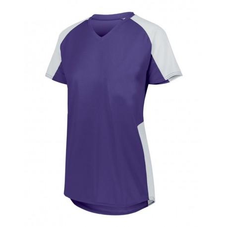 1522 Augusta Sportswear 1522 Women's Cutter Jersey PURPLE/ WHITE