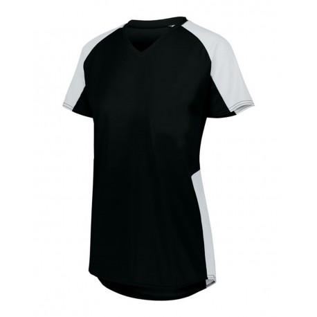 1523 Augusta Sportswear 1523 Girls' Cutter Jersey BLACK/ WHITE