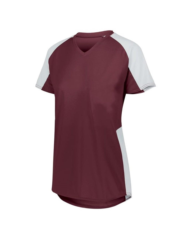 1523 Augusta Sportswear MAROON/ WHITE