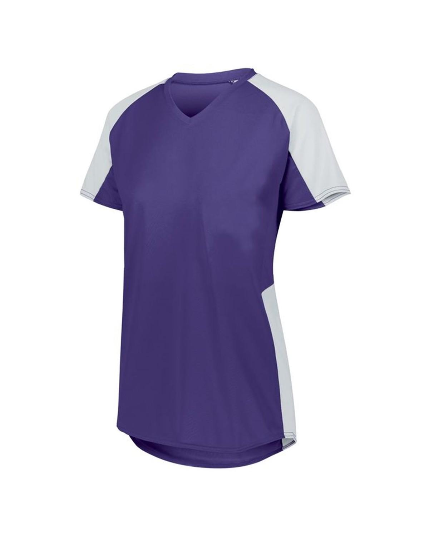 1523 Augusta Sportswear PURPLE/ WHITE