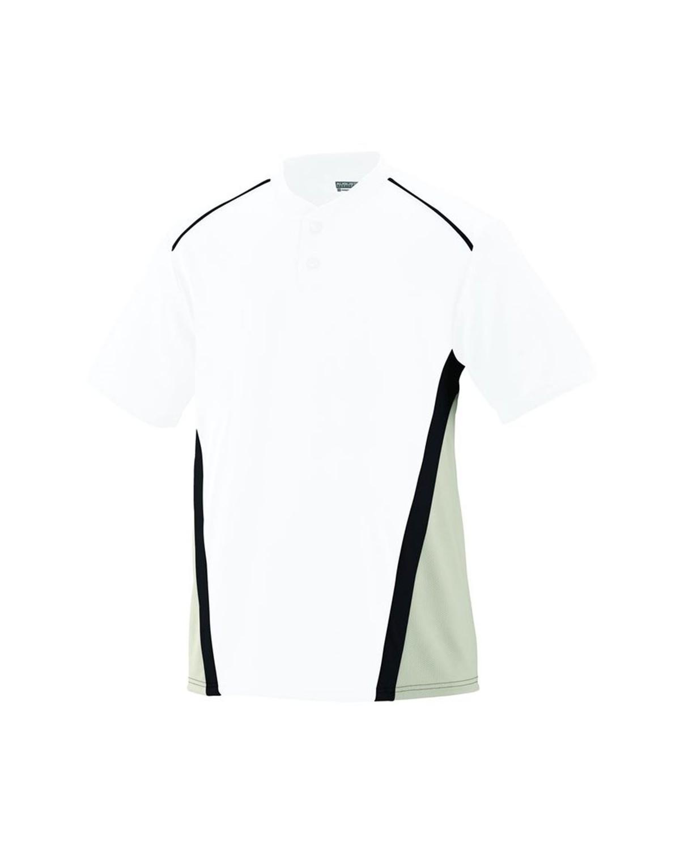 1525 Augusta Sportswear White/ Silver Grey/ Black