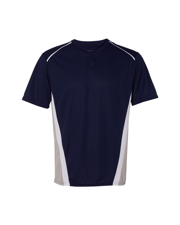 1525 Augusta Sportswear Navy/ Silver Grey/ White