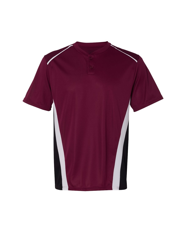 1525 Augusta Sportswear Maroon/ Black/ White