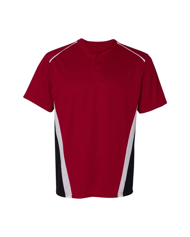 1525 Augusta Sportswear Red/ Black/ White