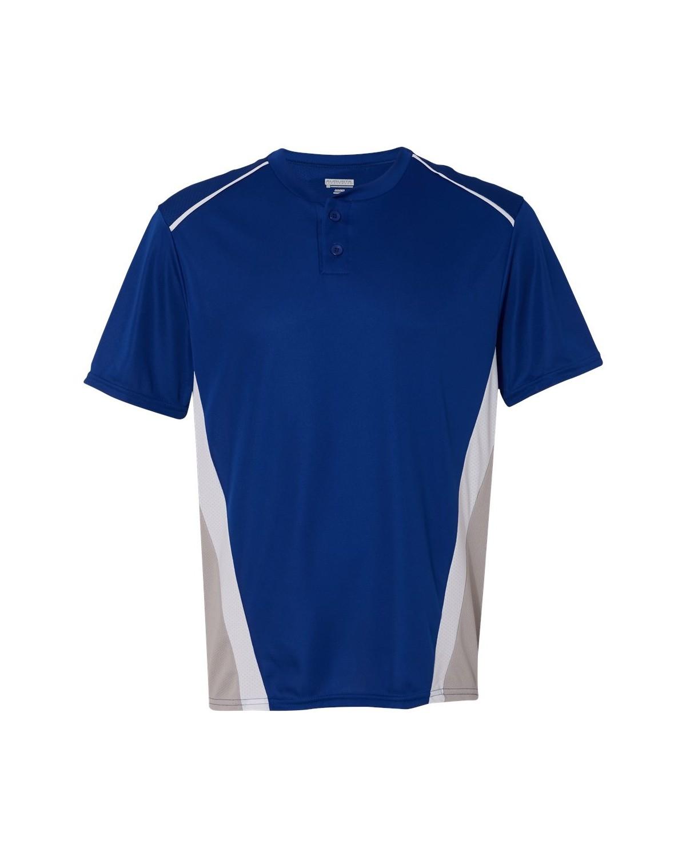 1525 Augusta Sportswear Royal/ Silver Grey/ White