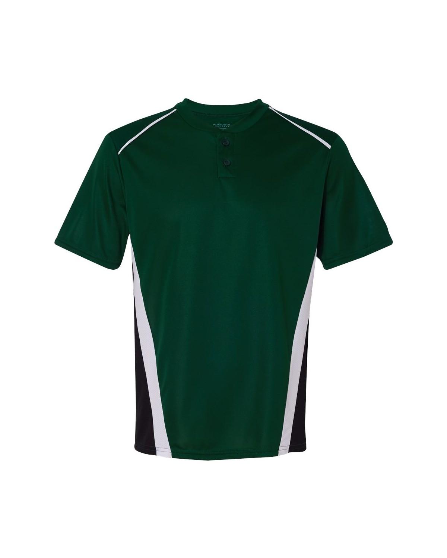 1525 Augusta Sportswear Dark Green/ Black/ White