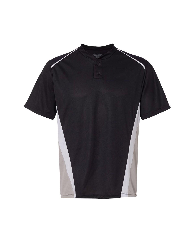1525 Augusta Sportswear Black/ Silver Grey/ White
