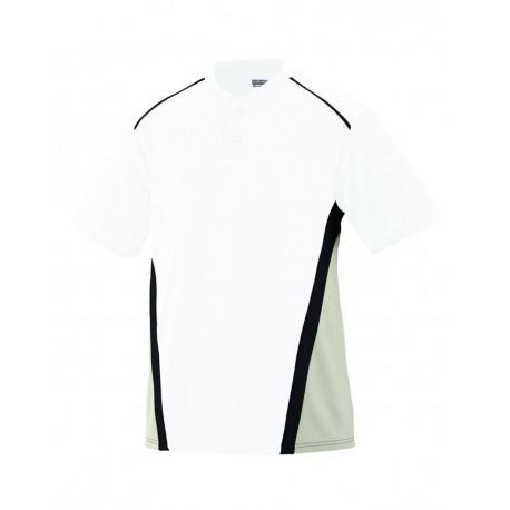 1526 Augusta Sportswear 1526 Youth RBI Performance Jersey White/ Silver Grey/ Black