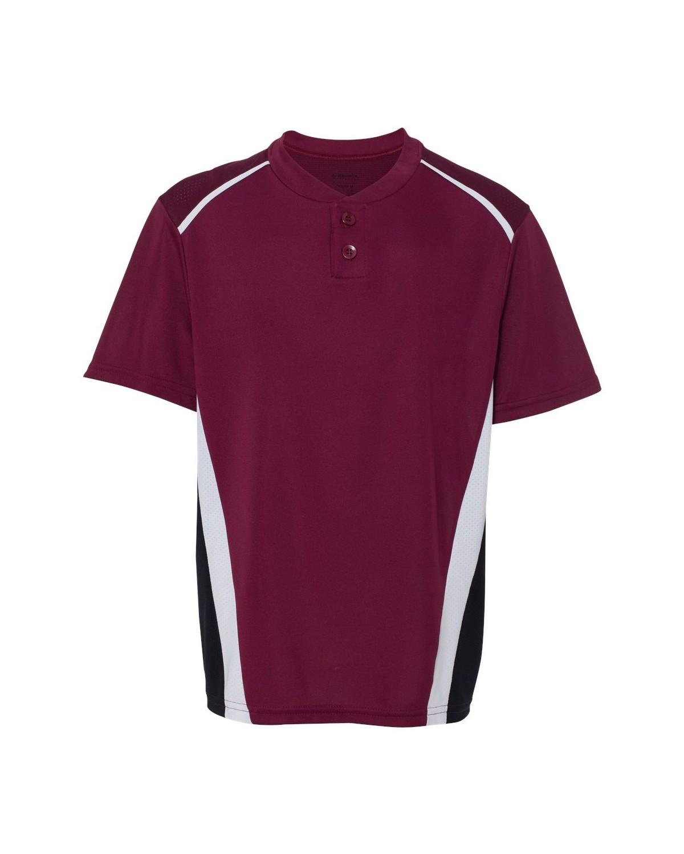1526 Augusta Sportswear Maroon/ Black/ White