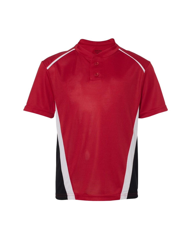 1526 Augusta Sportswear Red/ Black/ White