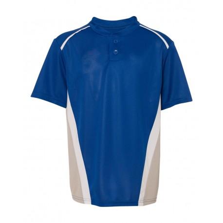 1526 Augusta Sportswear 1526 Youth RBI Performance Jersey Royal/ Silver Grey/ White