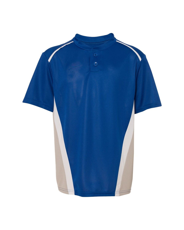 1526 Augusta Sportswear Royal/ Silver Grey/ White