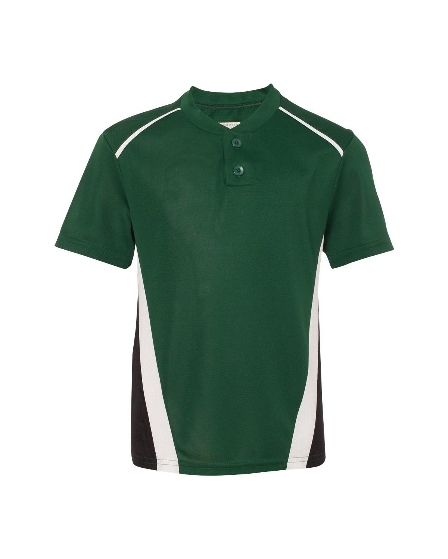 1526 Augusta Sportswear Dark Green/ Black/ White